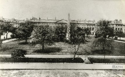 An early photograph of Queen Square c.1900s