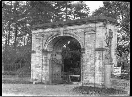 Entrance gates to Hazelgrove, near Sparkford, Somerset c.1930s