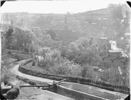 View of Kennet and Avon Canal from Sydney Buildings, Bath c.1920