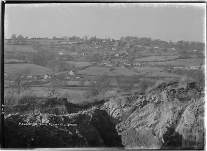 Holcombe from Moons Hill Quarry, near Stratton on the Fosse, Somerset, 14 March 1938