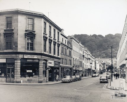 Southgate Street looking south from Lower Borough Walls junction, pre 1973
