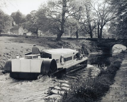 The 'Jane Austen' paddle boat, Kennet and Avon Canal, Bathampton pre-1973