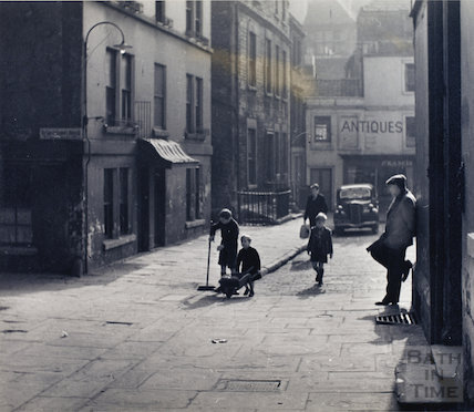 Children playing at Abbey Green c.1950s