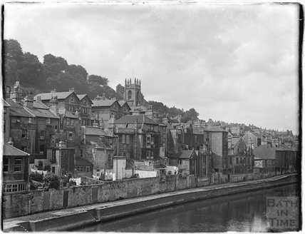 Back of Claverton Street across the river from the station side, c.1930s