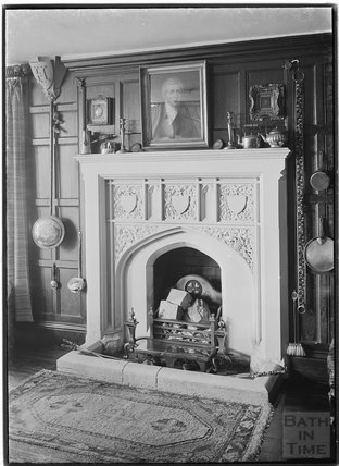 Fireplace, in the dining room of Frochester Court, Gloucestershire 1938