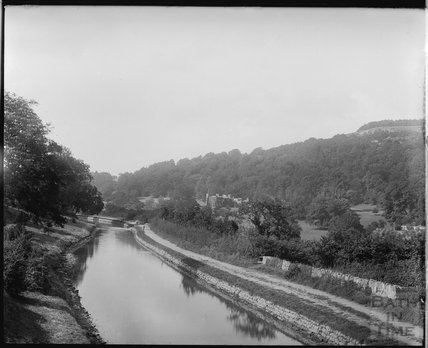 The Kennet and Avon Canal with Warleigh Manor in the background c.1910