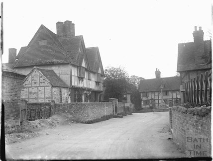 Street scene with timber framed house, thought to be Wantage, Oxfordshire, c.1930s