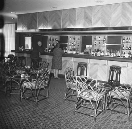 The bar at the newly completed Beaufort (Hilton) Hotel, Walcot Street, Bath, 4 April 1973