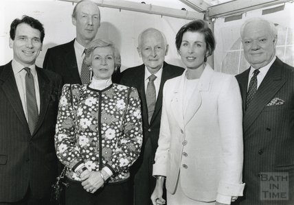 Director, William McNaught with trustees of the American Museum in Britain, 2 July 1991, the museum's 30th anniversary.