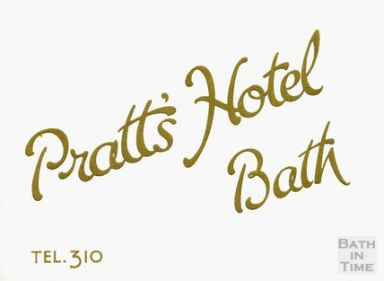 Cover to the Pratts Hotel brochure, c.1925