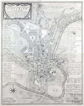 A New and Accurate Plan of the City of Bath, Bally & Tennant 1772