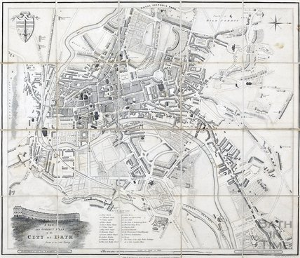 A New and Correct Plan of the City of Bath, Godwin 1835