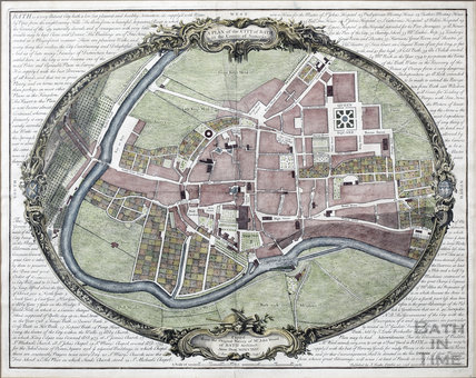 A Plan of the City of Bath in the County of Somerset by John Wood 1735
