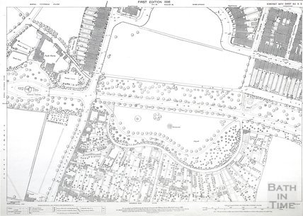 Bath 1:500 OS map Sheet XIV.5.3 1886