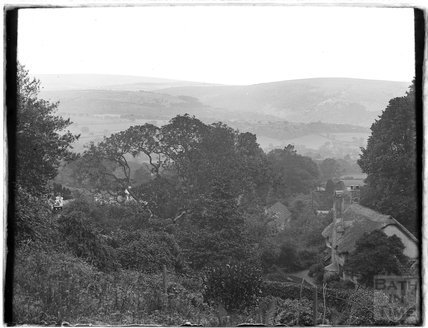 Exmoor view with cottages, near Minehead, 1931