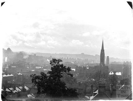View of the churches of St Johns and St James from Sydney Buildings c.1950s