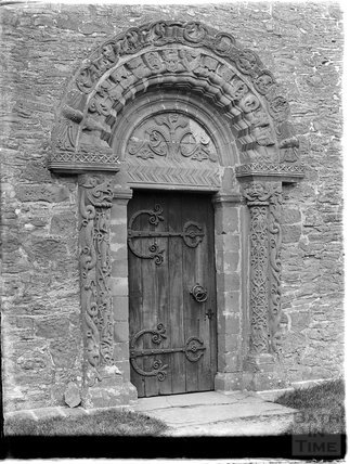 The Kilpeck Door, Church of St Mary and St Davids, Kilpeck, Hereford  and Worcester, c.1920s