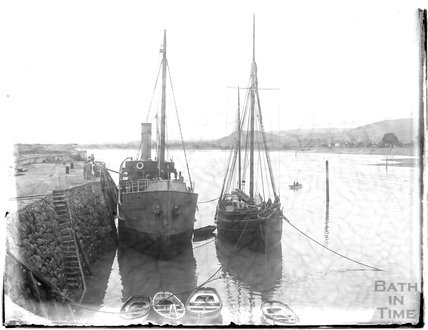 Ships at the quay, Minehead, 1926