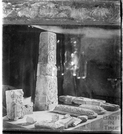 Unidentified ancient stone carvings, c.1930s