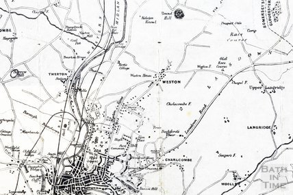 Map of the Environs of the City of Bath 1875 - detail