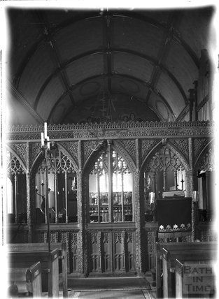 Inside St John the Baptist church, Lustleigh, Devon, Devon c.1930s