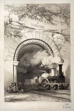 Frontispiece of the History of the Great Western Railway by JC Bourne, 1846