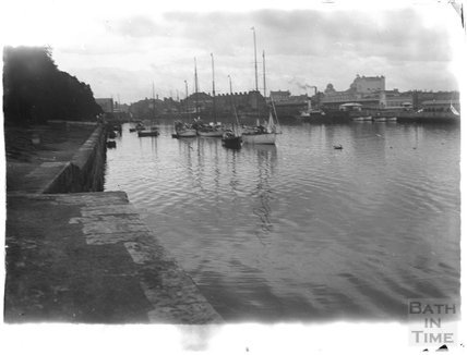 Harbour side at Weymouth, 1924