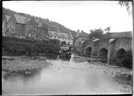 The ford at Bury, near Dulverton, Exmoor 1934