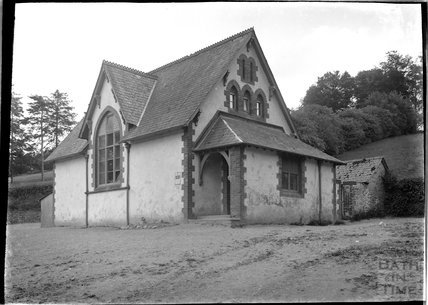 The schoolhouse?, thought to be at Upton, near Dulverton, Exmoor 1934