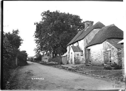 The Old Thatched House, Lydford, Dartmoor, Devon, c.1906