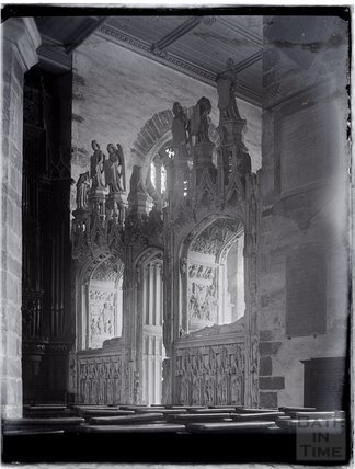 Inside the Church of St John, Kirkham Chantry, Paignton, Devon, late 1920s