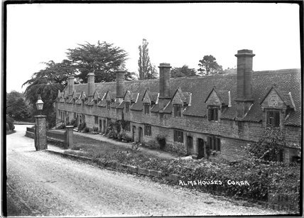 Almshouses at Coker, East Coker, Somerset, c.1920s