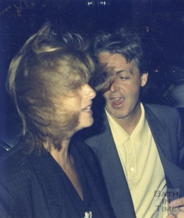 Paul and Linda McCartney at the Octagon, Bath, February 1987