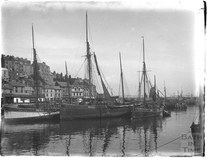 Fishing boats at Brixham / Paignton, Devon 1930