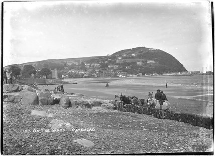 On the sands, Minehead, Somerset, no.14, c.1905 - 1915
