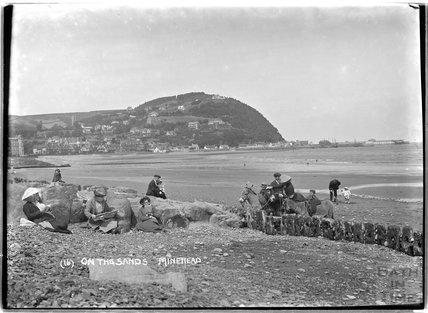 On the sands, Minehead, Somerset, no.16, c.1905 - 1915