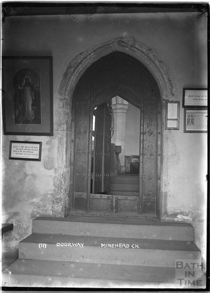 Doorway, St Michael's Church, Minehead, no.11, Somerset c.1905 - 1915