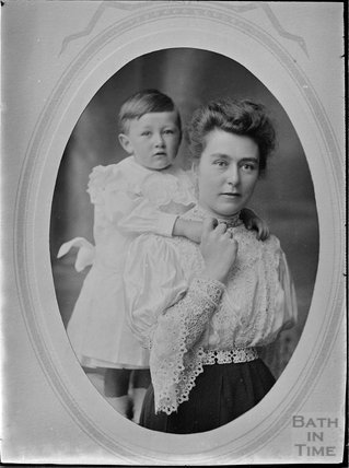 Unidentified portrait of a mother and son c.1910