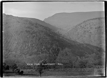 View from Cloutsham Ball near Minehead, Somerset, c.1920s