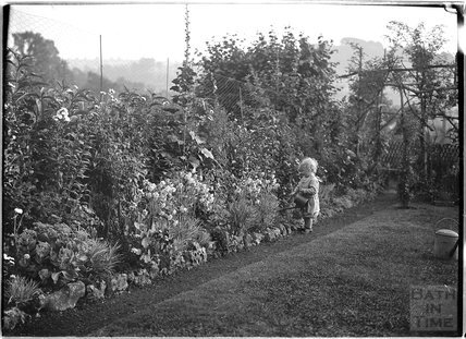 The photographer's son Roy gardening, c.July 1913
