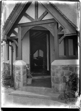 Porchway to an unidentified House, possibly Knapp or Porlock, Somerset, c1930s