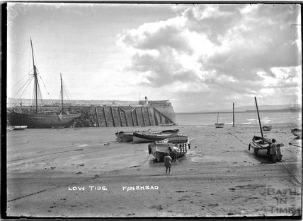 Low tide at Minehead, c.1915
