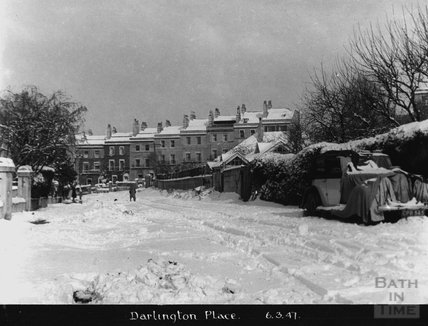 Darlington Place in the snow, 6 March 1947