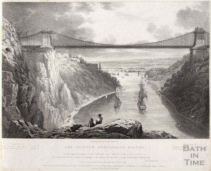 The Clifton Suspension Bridge, Bristol , c.1829