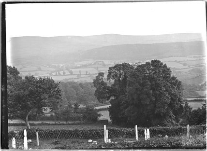 View of Exmoor, possibly from Selworthy, near Minehead, Somerset, c.1912