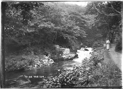 On the River Lyn, Lynmouth, Exmoor, Devon, c.1920s