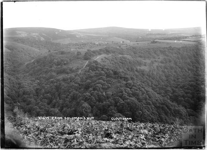 View from Solomon's Hut, Cloutsham, near Minehead, Somerset, 1909