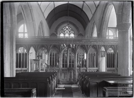 Screen inside the church of St Winifred, Manaton, Dartmoor, Devon 1928