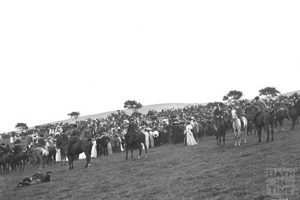 Opening Meet, Cloutsham, near Minehead 1909 - detail