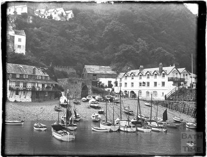 The harbour at Clovelly, North Devon, c.1930s